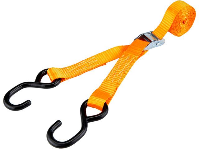 CAMPZ Lashing Belt with Double S-Hook 2,5cm x 4m, orange